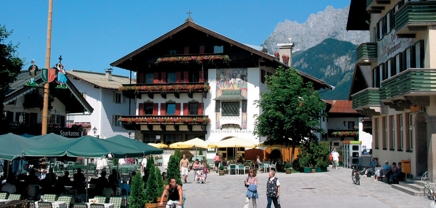 Town square with the Gasthof Mauth, St. Johann, Austria -  in the background.jpg